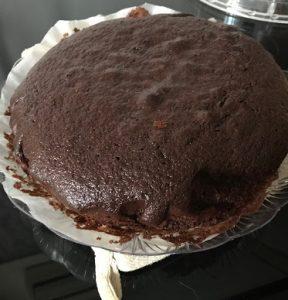 torta al cioccolato con pistacchi